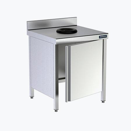 Distform Mesa puerta orifico debarace 2 Table adossée avec porte et orifice vide déchets   Distform   Mesa puerta orifico debarace 2