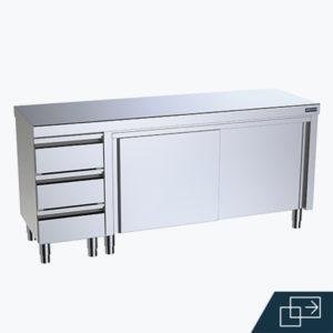 Distform Mueble cajones puertas 2 300x300 Module sans socle pour poubelle   Distform   Mueble cajones puertas 2 300x300