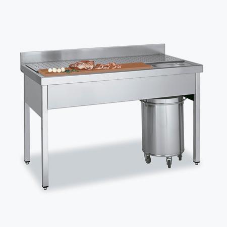 Distform mesa carne OK 2 Fregadero   Mesa de preparación de carne y pescado   Distform   mesa carne OK 2
