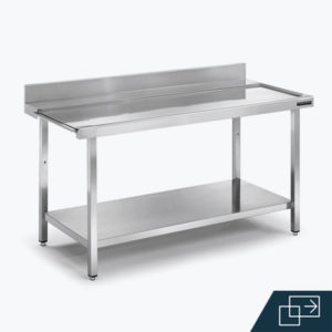 Distform mesa mural entrada salida 3 300x300 Mesas de prelavado con cubeta y aro desbarazado   Distform   mesa mural entrada salida 3 300x300