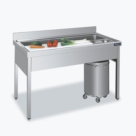 Distform mesa verdura OK 2 Fregadero   Mesa de preparación de verduras   Distform   mesa verdura OK 2