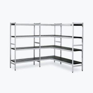 Estanterías de pie de aluminio