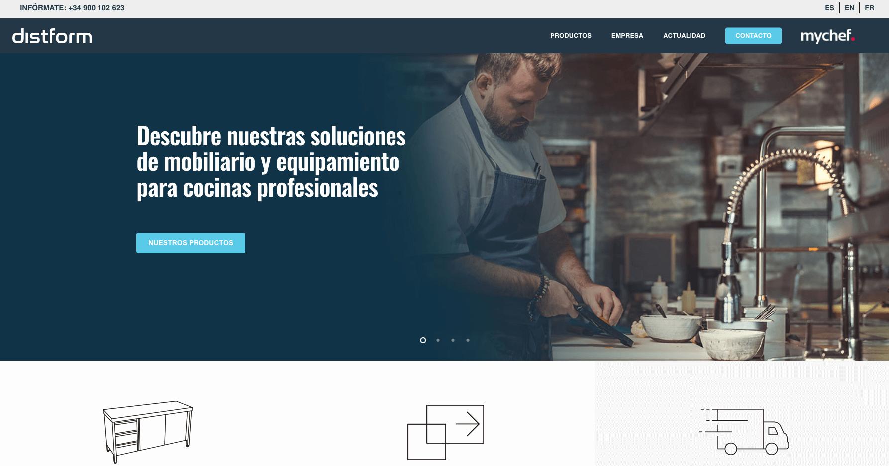 Nueva página web Distform