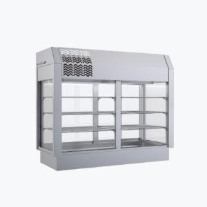 Distform prod 0049 Vitrina refrigerada 3 niveles 300x300 Vitrina refrigerada recta de 3 niveles con cuba fría ventilada   Distform   prod 0049 Vitrina refrigerada 3 niveles 300x300