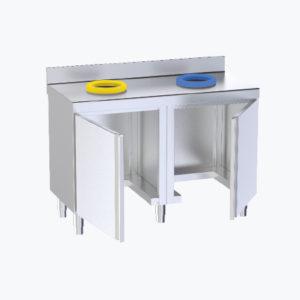 Distform prod 0088 Mueble cerrado de reciclado 300x300 Mueble con cajones a mano derecha y puertas correderas   Distform   prod 0088 Mueble cerrado de reciclado 300x300