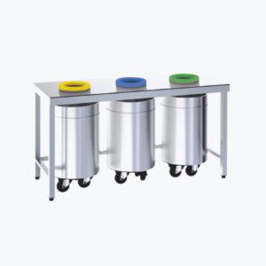 Distform prod 0091 Mesa de reciclado abierta 300x300 Mesa mural con cajones   Distform   prod 0091 Mesa de reciclado abierta 300x300